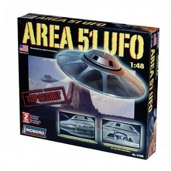 AREA 51 UFO 1:48 SCALE MODEL KIT BY LINDBERG